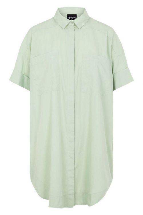 Pieces - Skjorte - PC Sillu SS Oversized Shirt - Desert Sage