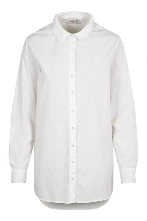 Pieces - Skjorte - PC Siva LS Shirt - Bright White