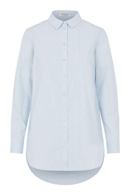 Pieces Skjorte PC Siva LS Shirt Kentucky Blue Front