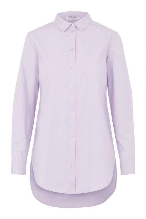 Pieces - Skjorte - PC Siva LS Shirt - Purple Heather