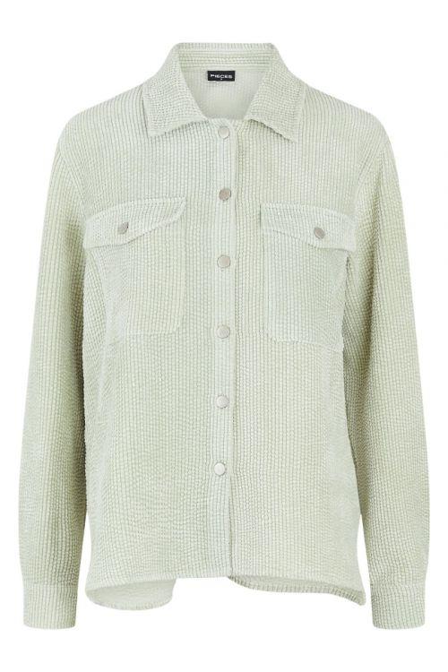 Pieces - Skjorte - PC Steffi LS Corduroy Shirt - Desert Sage