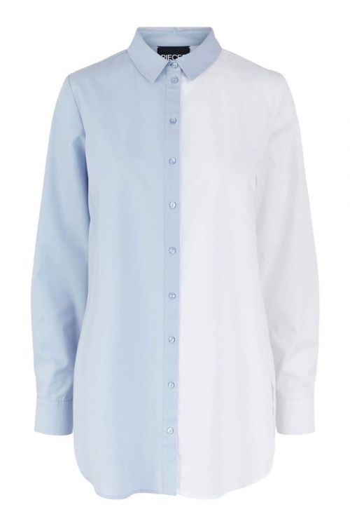 Pieces - Skjorte - PC Kasandra LS Long Shirt - Bright White