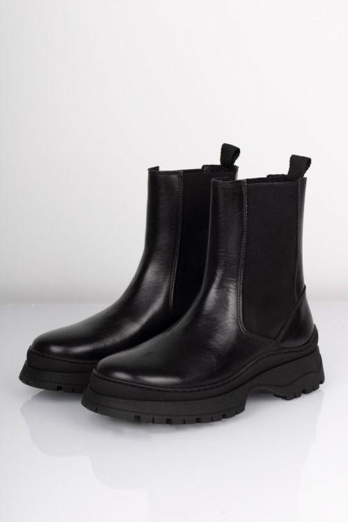 Pieces - Støvler - Selione Leather Boot - Black