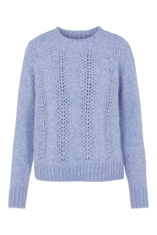 Pieces - Strik - PC Bibi LS Knit - Kentucky Blue