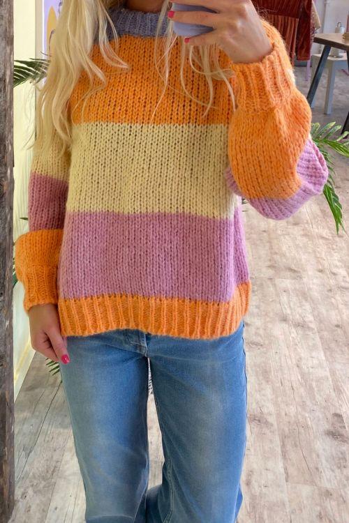 Pieces - Strik - PC Fonda LS O-Neck Wool Knit - Pale Iris