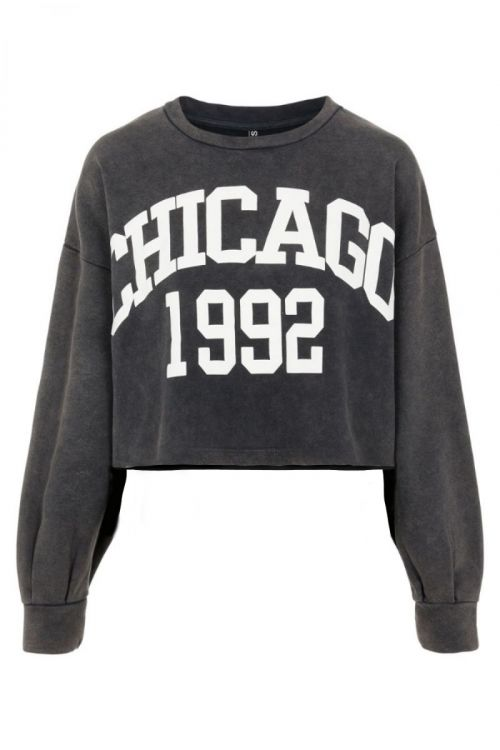 Pieces Sweat PC Mytna LS Cropped Sweat Black Front