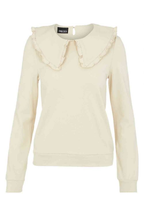 Pieces Sweat PC Tanja LS Top Fog Front
