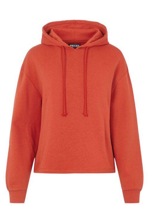 Pieces - Sweatshirt - PC Chilli LS Hoodie - Burnt Ochre
