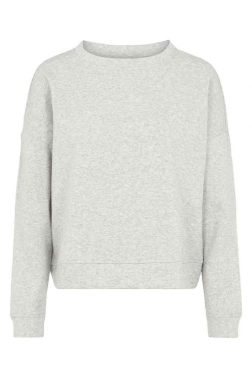 Pieces - Sweatshirt - PC Liola LS Sweat Lounge - Light Grey Melange