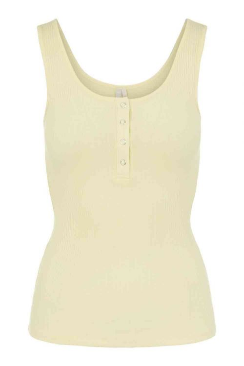 Pieces Top PC Kitte Tank Top Pale Banana Front