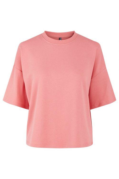 Pieces - T-shirt - PC Chilli Summer 2/4 Loose Sweat - Tea Rose