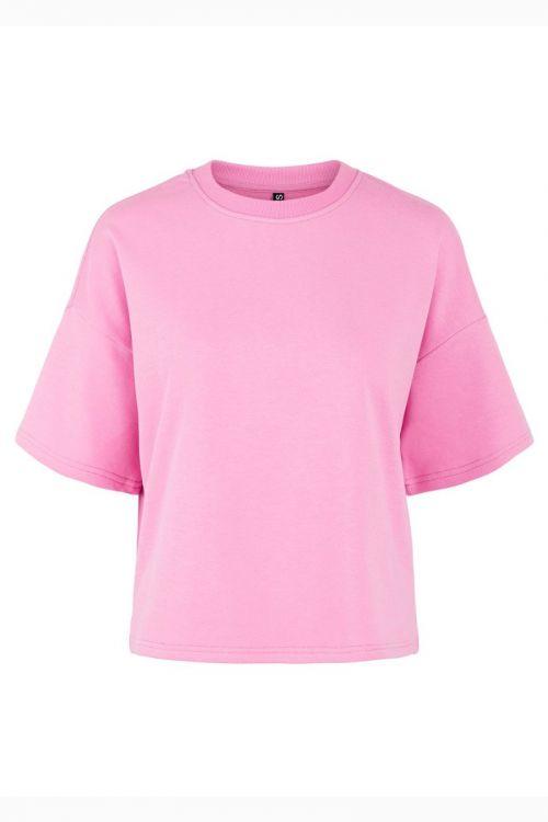 Pieces -  T-shirt - PC Chilli Summer 2/4 Loose Sweat - Cyclamen