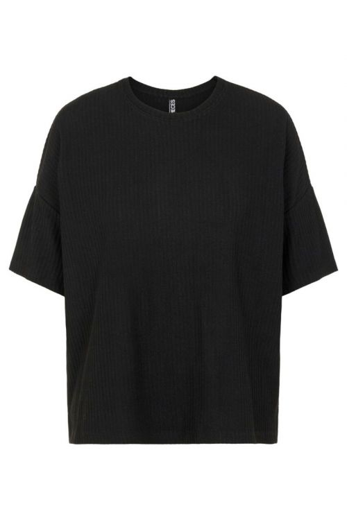 Pieces - T-shirt - Ribbi SS Oversized Tee - Black