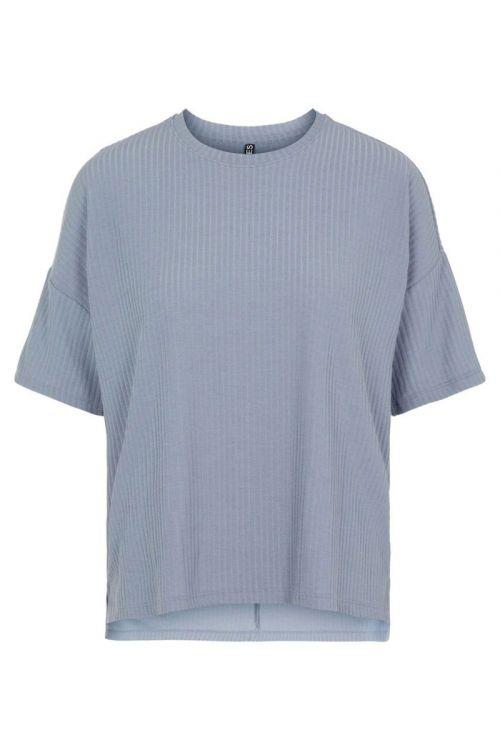 Pieces - T-shirt - Ribbi SS Oversized Tee - Blue Fog