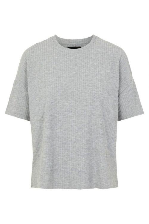 Pieces - T-shirt - Ribbi SS Oversized Tee - Light Grey Melange