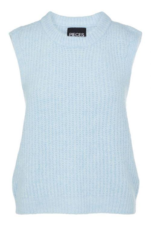 Pieces - Vest - PC Fenja Knit Vest - Cashmere Blue