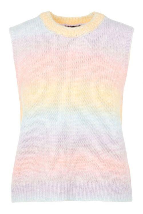 Pieces - Vest - PC Rainbow Knit Vest - Orchid Bloom