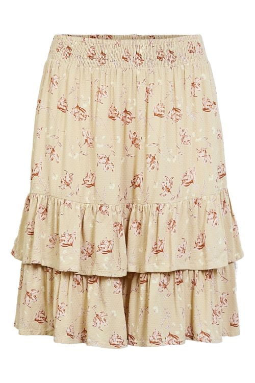 Pieces Nederdel Coll MW Skirt Warm Sand Front