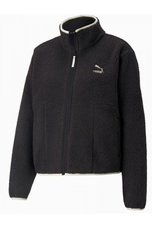 Puma - Jakke - CLSX Sherpa Track Jacket - Black