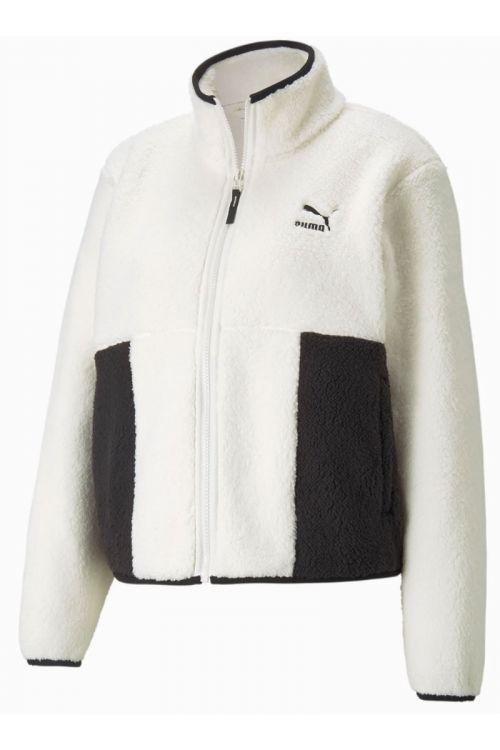 Puma - Jakke - CLSX Sherpa Track Jacket - White