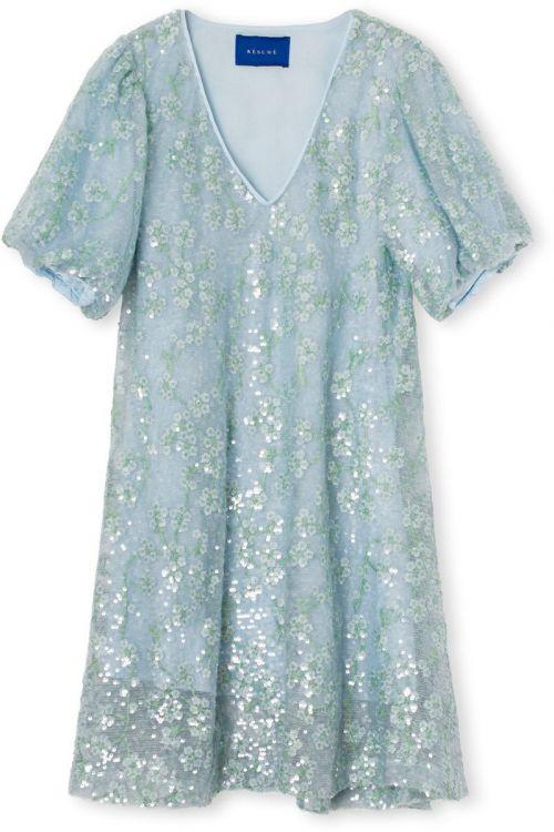 Résumé  Kjole  Ginnie  RS Dress  Silver Blue Front