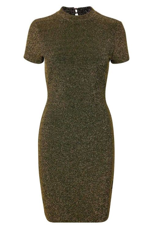 Soaked In Luxury - Kjole - Cooper Dress - Gold And Black Glitter