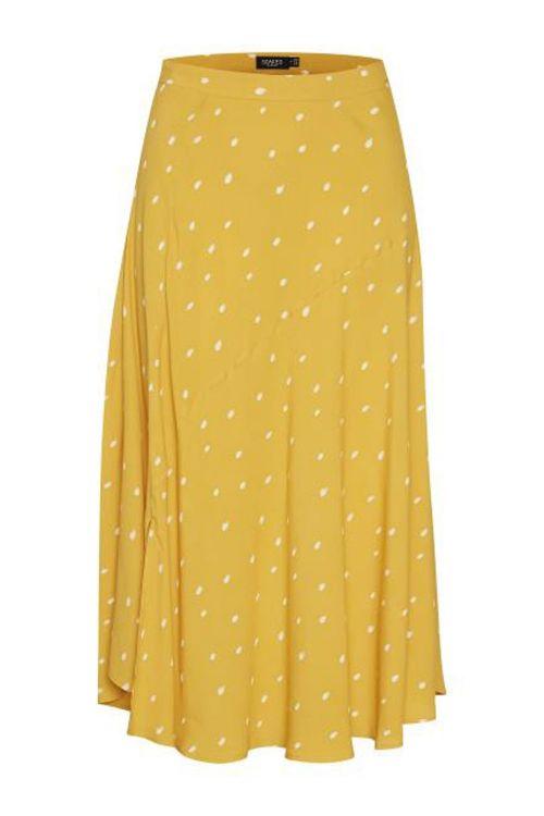 Soaked In Luxury Nederdel Alaya Skirt Golden Rod Print Front