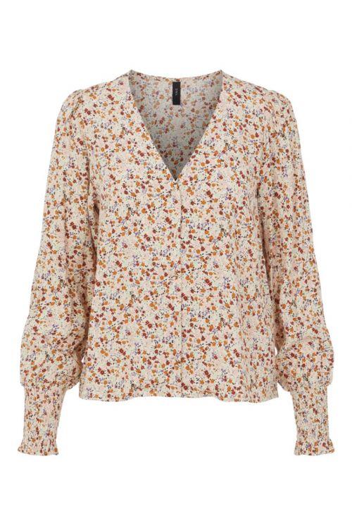 Y.A.S - Bluse - Rolea LS Shirt - Sand Dollar