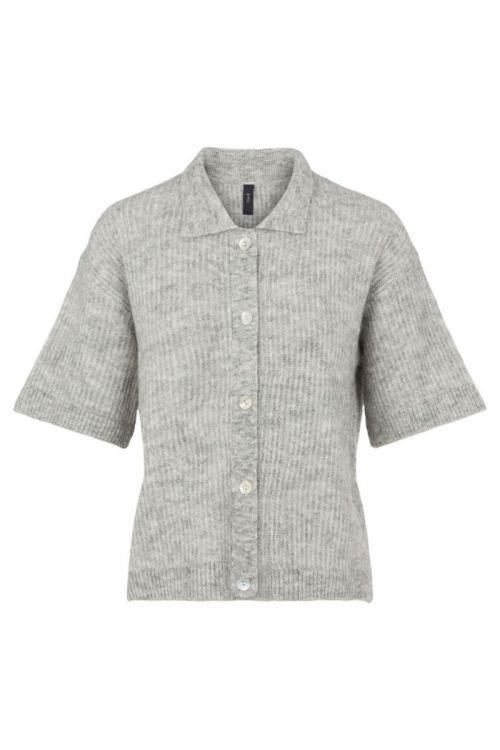 Y.A.S - Cardigan - Alva 2/4 Knit Cardigan - Light Grey Melange