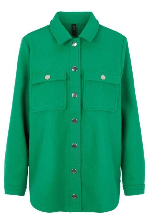 Y.A.S - Jakke - Jolly LS Shacket - Jolly Green