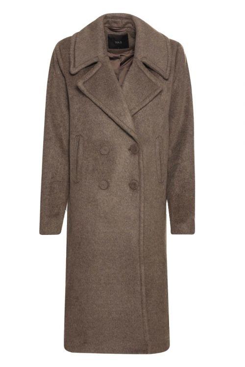 Y.A.S - Jakke - Vicana Wool Coat - Falcon
