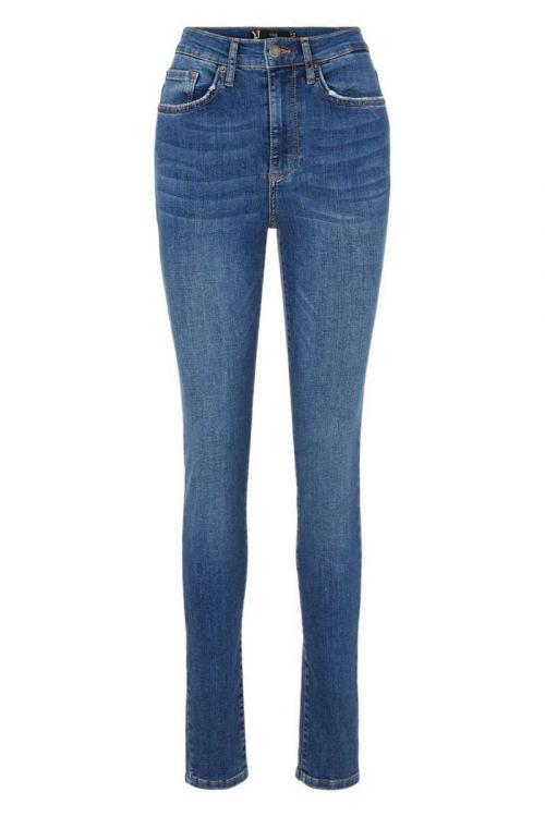 Y.A.S - Jeans - Ayo HW Skinny Jeans - Medium Blue Denim
