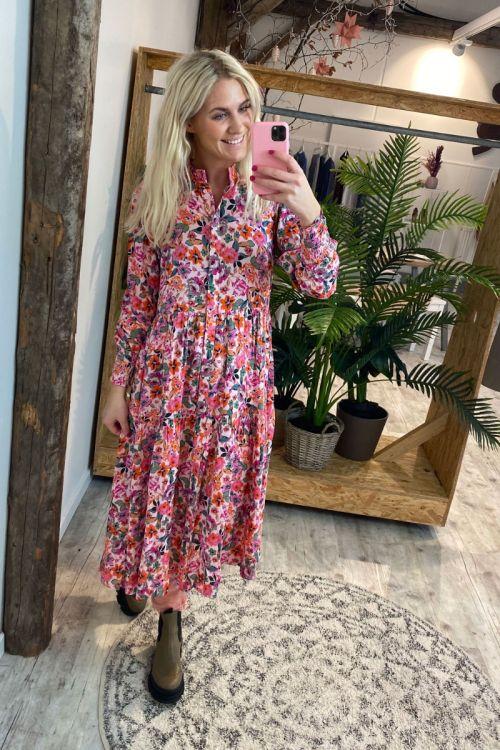 Y.A.S - Kjole - Alira LS Midi Dress - Blushing Bride