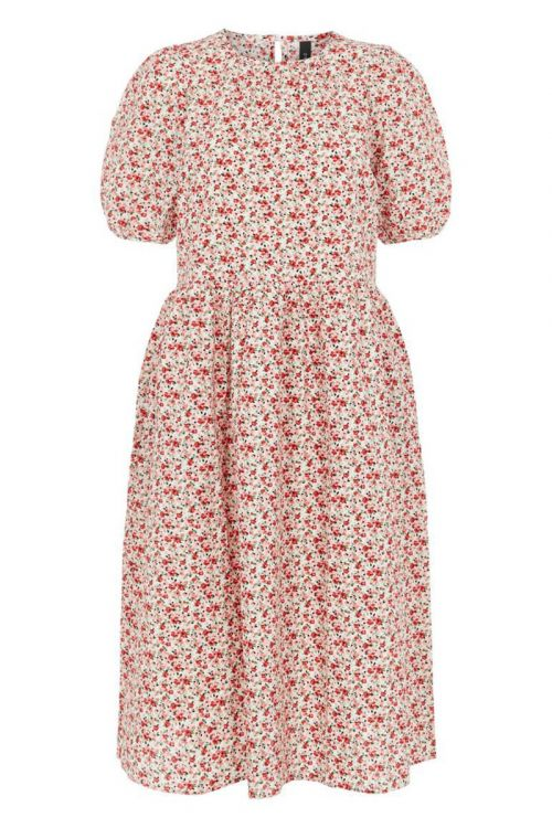 Y.A.S Kjole Barry 2/4 Midi Dress Eggnog Front