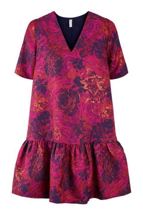 Y.A.S - Kjole - Cille SS Dress - Festival Fuchsia