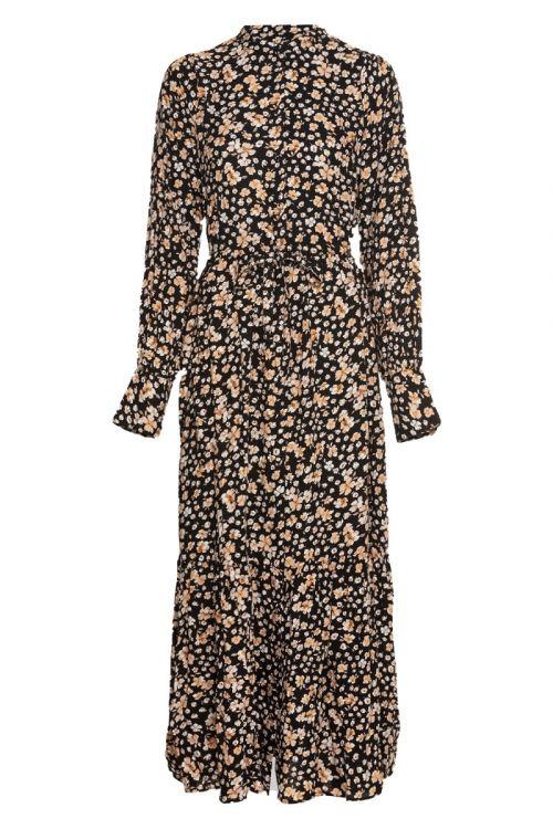 Y.A.S - Kjole - Emalla LS Long Shirt Dress - Black