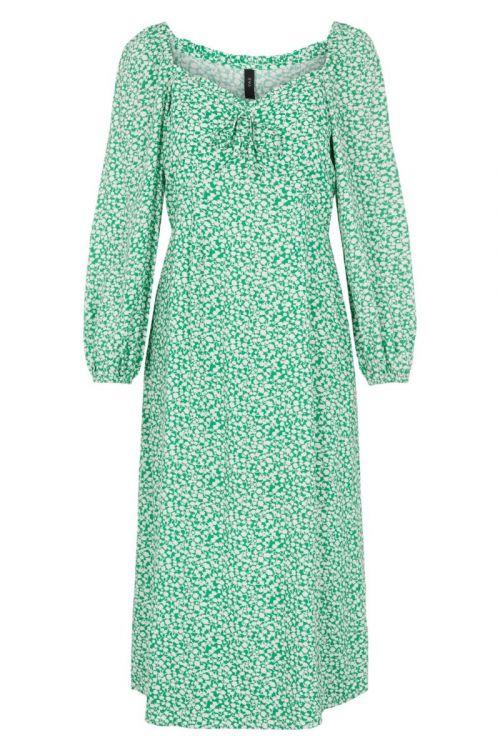 Y.A.S - Kjole - Felicity LS Midi Dress - Jolly Green