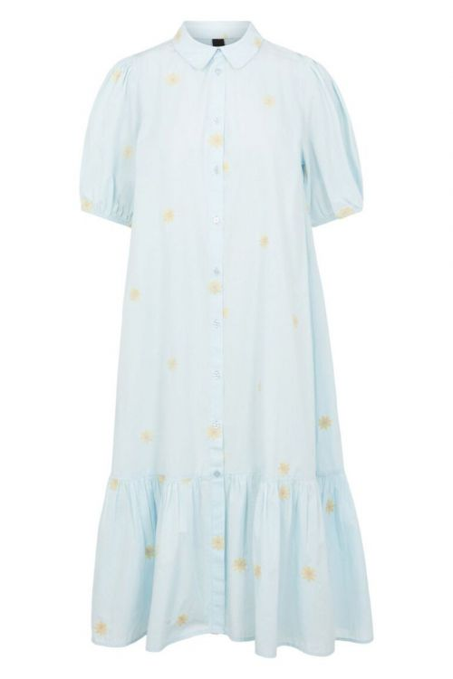 Y.A.S Kjole Fieldflower 2/4 Midi Dress Whispy Blue Front