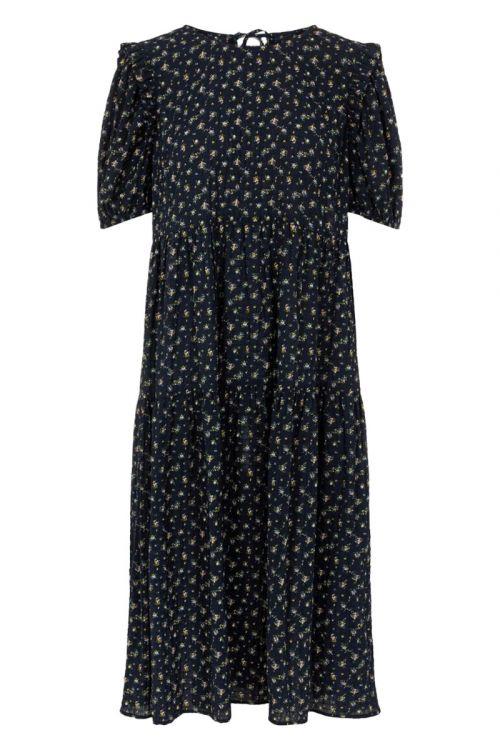 Y.A.S Kjole Yasflera 2/4 Midi Dress Night Sky Front