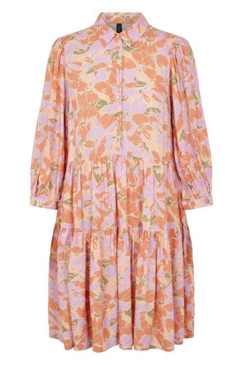 Y.A.S - Kjole - Juna 3/4 Dress - Golden Straw