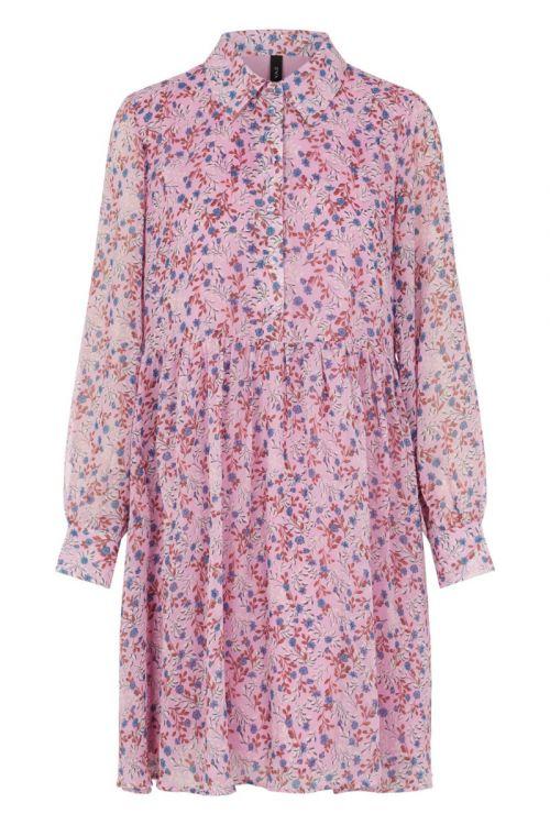 Y.A.S Kjole Lila LS Chiffon Dress Lilac Chiffon Front