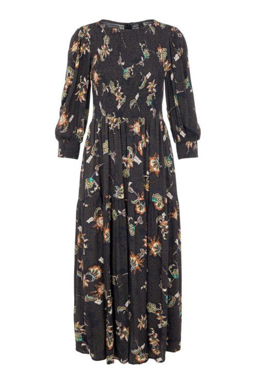 Y.A.S Kjole Marta 3/4 Long Dress Black Front