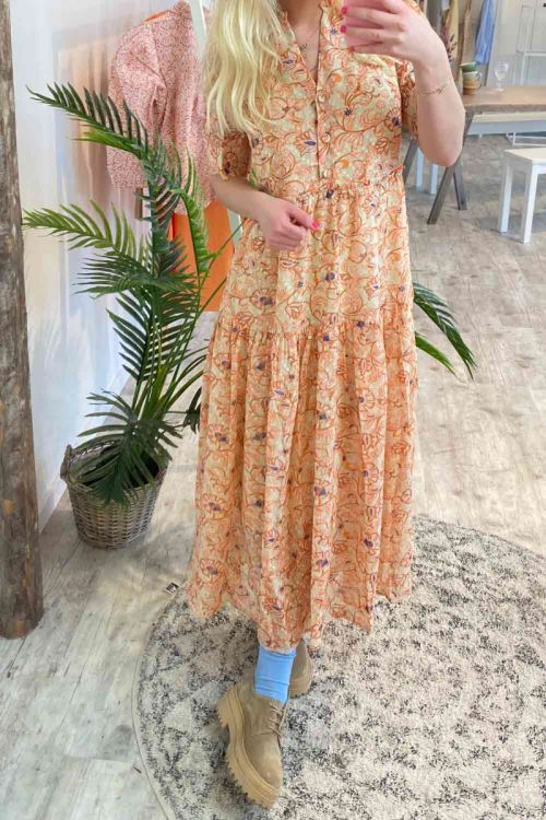 Y.A.S - Kjole - Miva SS Long Chiffon Dress - Dawn