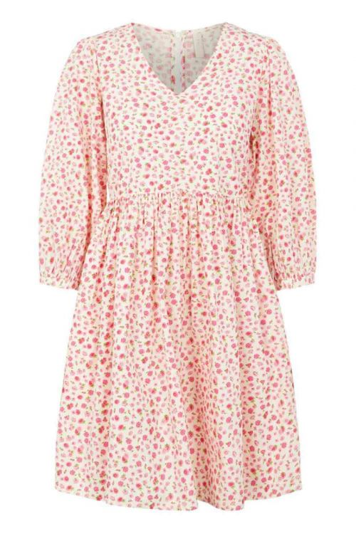 Y.A.S - Kjole - Munla 3/4 Short Dress - Star White/Flower
