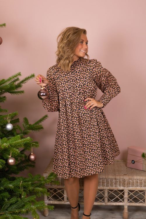 Y.A.S Kjole Nanna LS Dress Black/Nanna Print Hover
