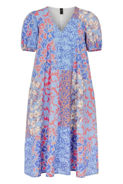 Y.A.S Kjole Pitcha 2/4 Midi Dress Blue Iris Front