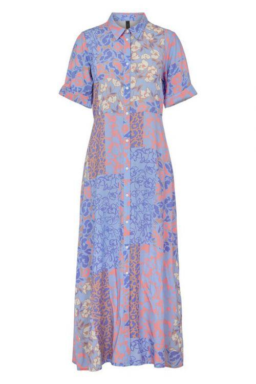 Y.A.S Pitcha SS Ankel Dress Blue Iris Front