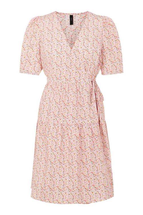 Y.A.S - Kjole - Ricca SS Wrap Dress - Roseate Spoonbill