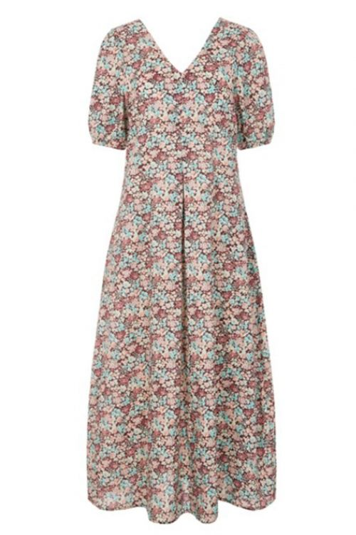 Y.A.S - Kjole - YAS Tulia SS Long Dress - Rosewood