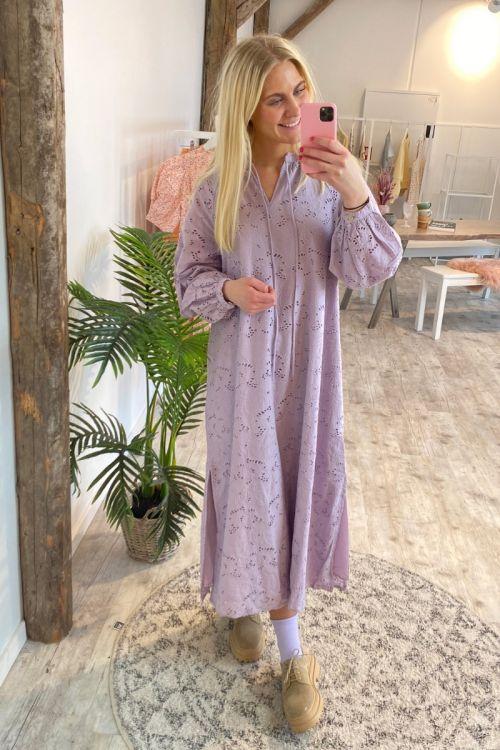 Y.A.S Kjole Tulippa 7/8 Kaftan Dress Lavender Frost Front